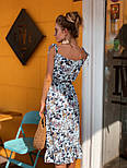 Женский сарафан-миди с поясом (в расцветках), фото 2