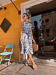 Женский сарафан-миди с поясом (в расцветках), фото 4