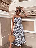 Женский сарафан-миди с поясом (в расцветках), фото 6