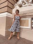 Женский сарафан-миди с поясом (в расцветках), фото 7