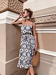 Женский сарафан-миди с поясом (в расцветках), фото 10