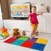 Ортопедический коврик пазл для детей Ортодон массажный комплект из 20 разных пазлов