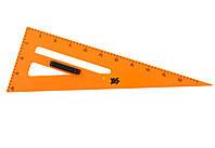 Треугольник прямоугольный 55 см большой пластиковый