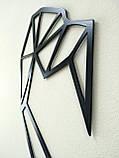 Настенный декор. Геометрические фигуры. Лофт. Панно из металла., фото 3