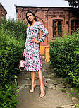 Женское платье на запах с поясом (в расцветках), фото 2