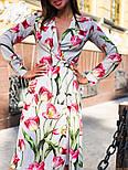 Женское платье на запах с поясом (в расцветках), фото 3