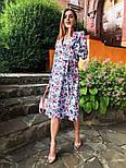 Женское платье на запах с поясом (в расцветках), фото 5