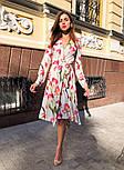 Женское платье на запах с поясом (в расцветках), фото 7