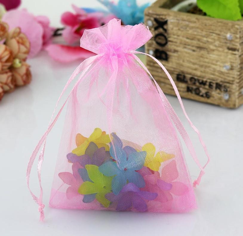 Мешочек из органзы /размер 9х12 см./ упаковка подарков/ цвет розовый