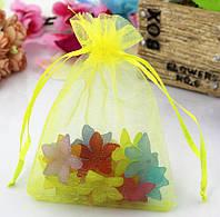 Мешочек из органзы /размер 9х12 см./ упаковка подарков/ цвет желтый