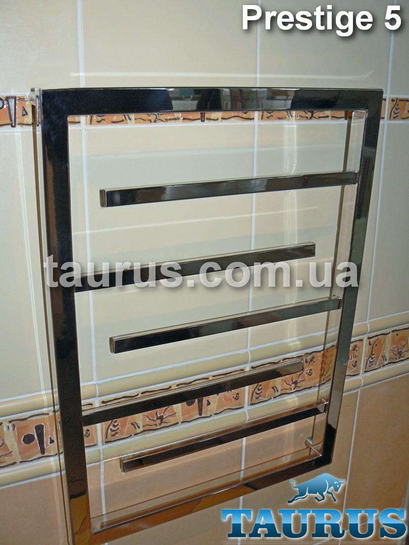 Небольшой, узкий полотенцесушитель Prestige 5 /650х400 для ванной комнаты. Строгий дизайн. Украина