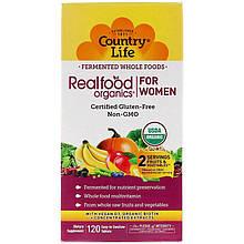 """Жіночі полівітаміни Country Life """"RealFood Organics women's"""" (120 таблеток)"""