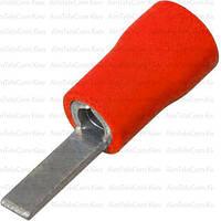 Наконечник плоский DBV1.25-10 изолированный, 0.5-1.5мм², длина 10мм, красный, 100шт