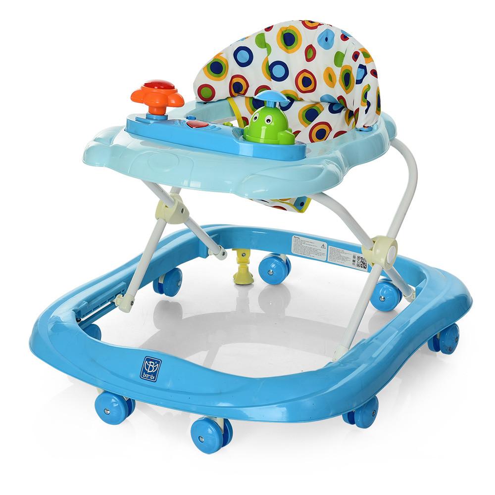 Детские ходунки BAMBI с музыкой и светом М 3664 Blue Гарантия качества. Быстрая доставка.