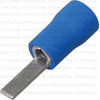 Наконечник плоский DBV2-18 изолированный, 1.5-2.5мм², длина 18мм, синий, 100шт