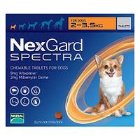 Merial NexGard Spectra - жевательная таблетка для собак S (2-3.5 кг) 3таблетки