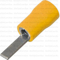 Наконечник плоский DBV5.5-10 изолированный, 4-6мм², длина 10мм, жёлтый, 100шт