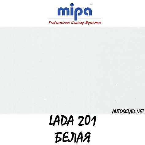 Авто краска (автоэмаль) акриловая Mipa (Мипа) 201 Белая 1л , фото 2