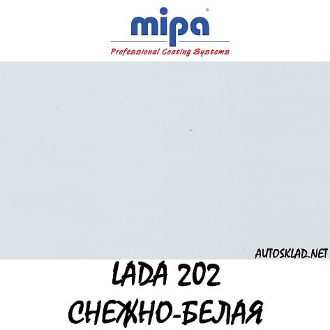 Авто краска (автоэмаль) акриловая Mipa (Мипа) 202 Снежно-белая 1 л, фото 2