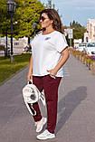 Літній костюм жіночий Турецька двунітка Розмір 52 54 56 В наявності 3 кольори, фото 7