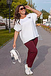 Літній костюм жіночий Турецька двунітка Розмір 52 54 56 В наявності 3 кольори, фото 3