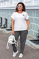 Летний костюм женский Турецкая двунитка Размер 52 54 56 В наличии 3 цвета, фото 1
