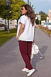 Літній костюм жіночий Турецька двунітка Розмір 52 54 56 В наявності 3 кольори, фото 6