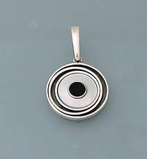 Серьги из серебра 925 пробы с натуральным перламутром, фото 2