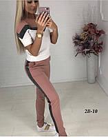 Летний костюм женский Турецкая двунитка Размер 42 44 46 В наличии 3 цвета, фото 1