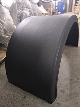 Крыло пластиковое, универсальное для грузовика, на заднюю ось, под спарку: 630(ширина ) X 2100 (длина) x 1335