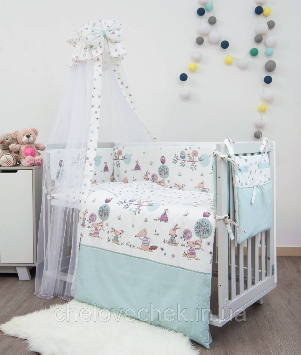 Детское постельное белье Twins Sweet SW-011 Forest mint 8 эл
