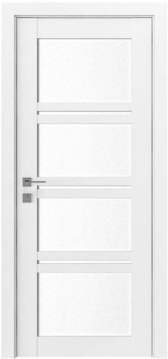 Двері Родос Modern Quadro скло білий мат