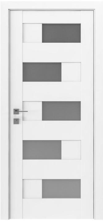 Двери Родос Modern Verona полустекло белый мат
