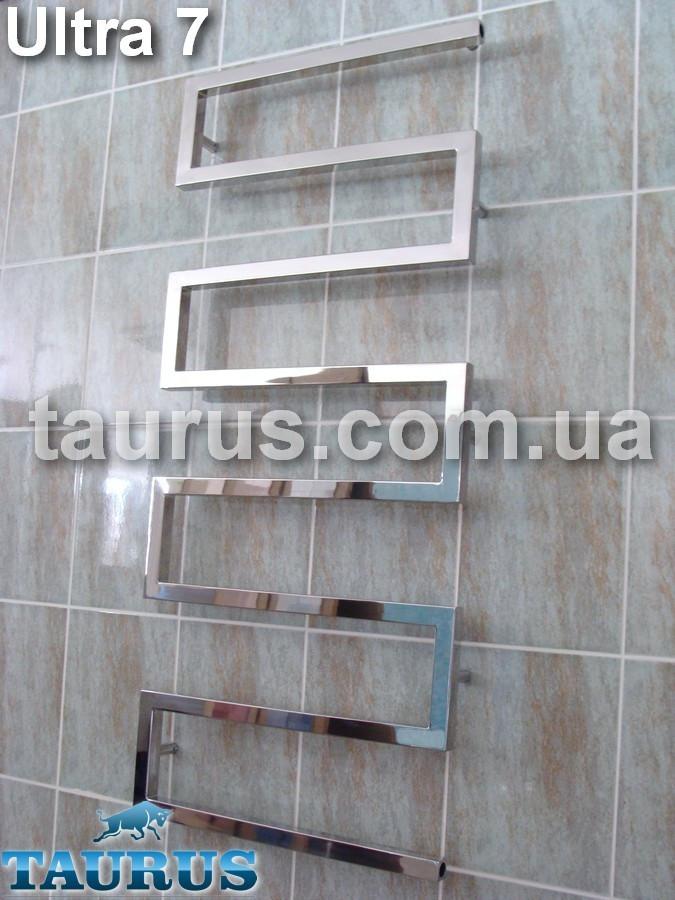 Суперстильный полотенцесушитель из нержавеющей стали Ultra 7/500 для ванной комнаты. Высота 1200 мм.