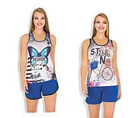 Майка и шорты, комплекты женские молодежные, фото 1