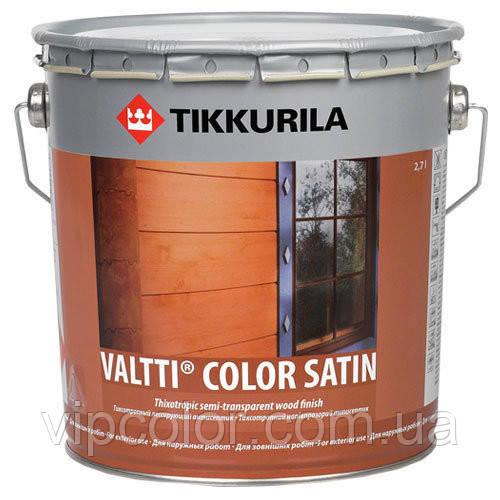 Tikkurila Valtti Color Satin лессирующий антисептик для обработки деревянных наружных стен EP 2,7 л