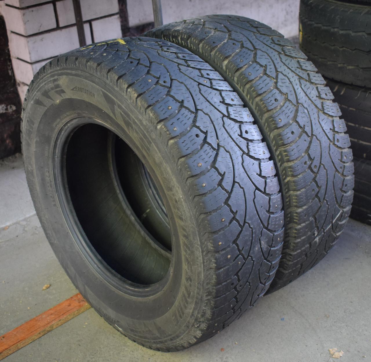 Шини б/у 225/70 R15C Bridgestone Noranza Van, ЗИМА, 5+ мм, пара