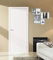 Двери Омис Глухие Cortex, Полотно+коробка+2 к-та наличников+добор 100мм, белый матовый, фото 2
