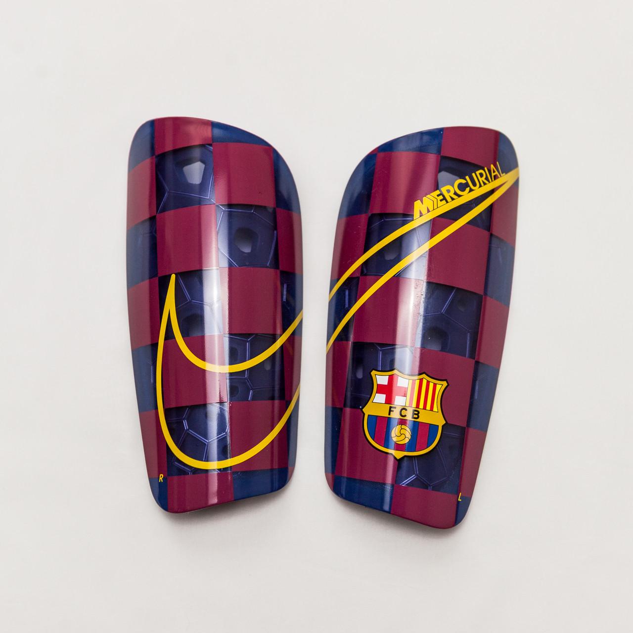 Щитки щутбольные Nike FC Barcelona Mercurial Lite SP2171-455 Синий с бордовым