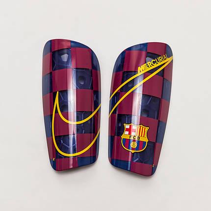 Щитки щутбольные Nike FC Barcelona Mercurial Lite SP2171-455 Синий с бордовым, фото 2