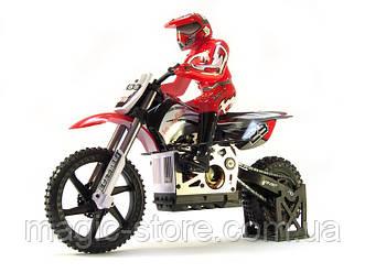 Радиоуправляемая модель Мотоцикл 1:4 Himoto Burstout MX400 Brushed (красный)