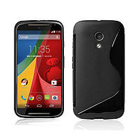 Силиконовый чехол Duotone для Motorola Moto G чёрный, фото 1