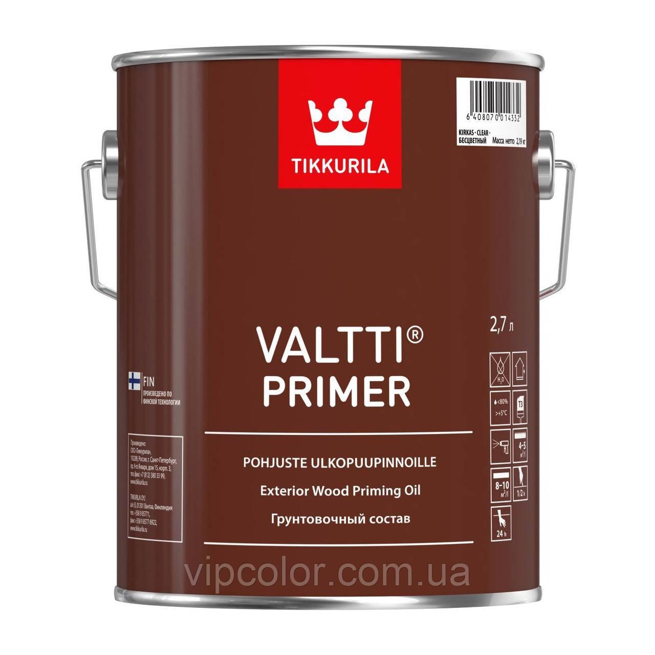 Tikkurila Valtti Primer грунтовочный состав для древесины Бесцветный 2,7 л