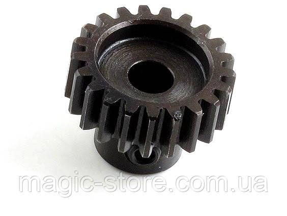 Пиньон HOBBYWING 21T 0.8M (32 pitch) 5mm из хромированной стали