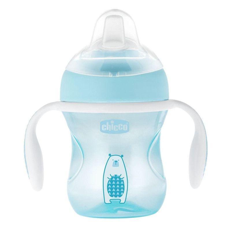 """Чашка пластикова для пиття Chicco """"Transition Cup"""" 200мл. від 4 місяців блакитна 06911.20.50"""