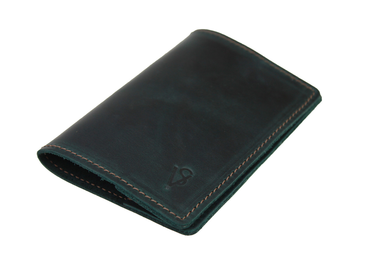 Обложка для паспорта кожаная SULLIVAN odp3(3) зеленая