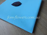 Уценка, Фоамиран Иранский Темно Голубой, 60х35 см