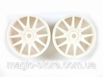 White Wheel Rims 2P