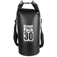 Водонепроницаемая гермосумка Ocean Pack 30L черная, фото 1