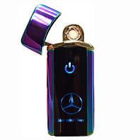 🔝 Электронная сенсорная зажигалка Classic Fashionable Mercedes (5403 H1) Фиолетовая, аккумуляторная | 🎁%🚚